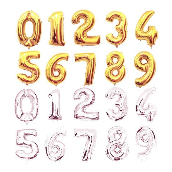 Gold/Silver Foil Number - 40cm