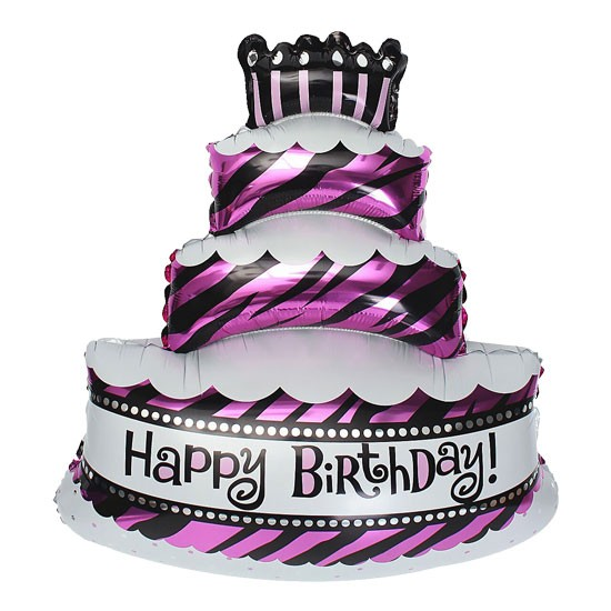 Birthday Cake Foil Stripes - 90cm