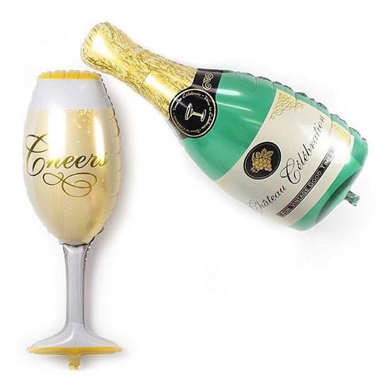 Champagne & Glass Foil - 100cm