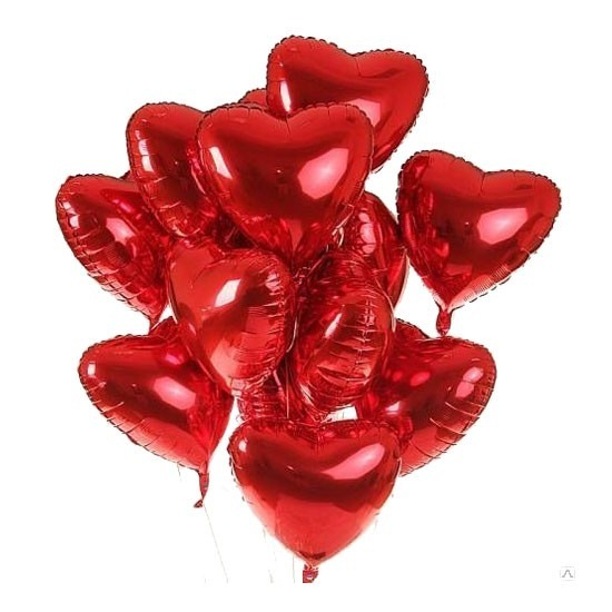 Heart Foil - 40cm 25pcs