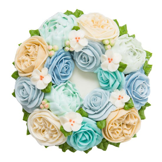 Wreath Cake - Blue
