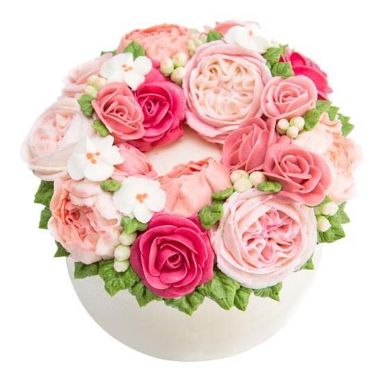 Wreath Cake - Pink