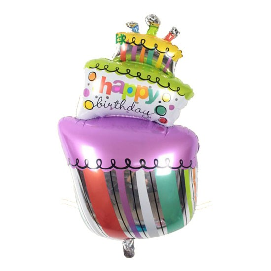 Birthday Cake Foil Swirls - 90cm