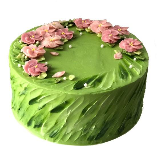 Pistachio-Dates Cake